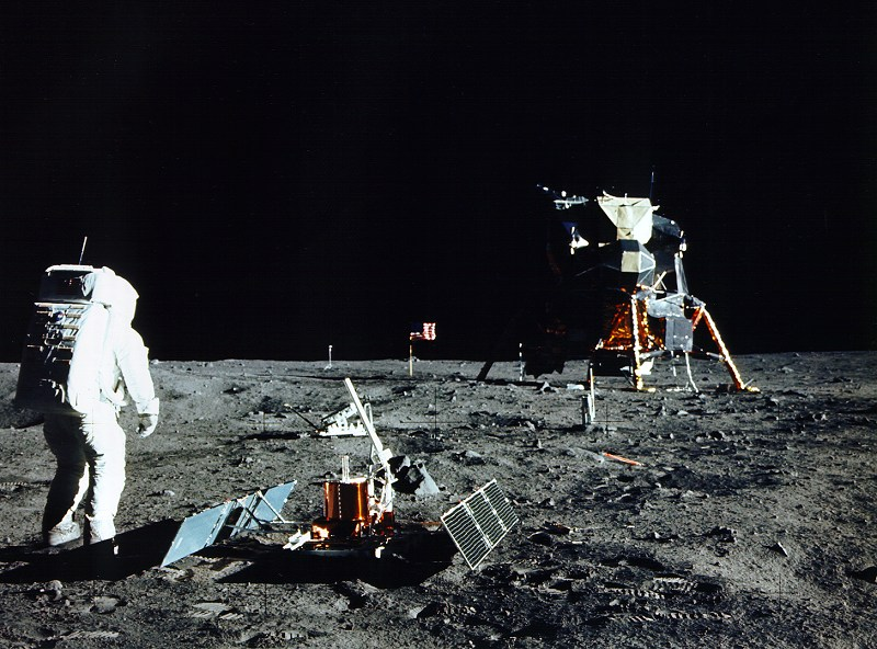 What was left on the moon by Apollo 11?